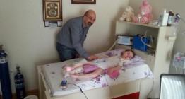 Kas Hastası Ecrin bebeği ziyaret