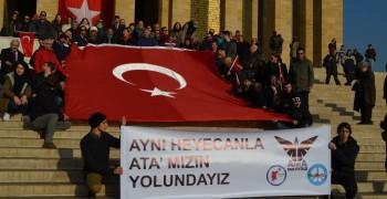 WosClub ile ATA'nın Ankaraya gelişi DİKMEN Sırtlarından ANITKABİRe 27 Aralık 20158