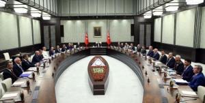Milli Güvenlik Kurulu (MGK), Cumhurbaşkanı Recep Tayyip Erdoğan başkanlığında toplandı.  ( Kayhan Özer - Anadolu Ajansı )