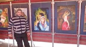 Suriyeli ressam savaşın kronolojisini boyalarla tutuyor