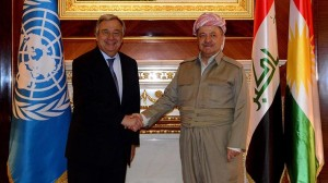 Guterres-ve-Mesut-Barzani