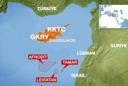 harita güney kıbrıs doğalgaz