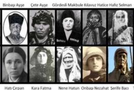 kurtuluş savaşı kadınlar